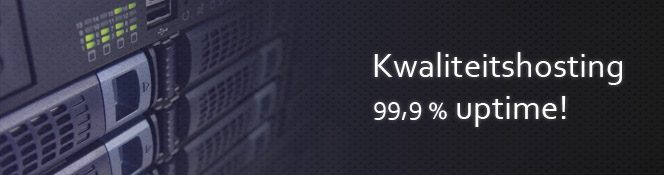 Kwaliteits hosting is 99,9% uptime!